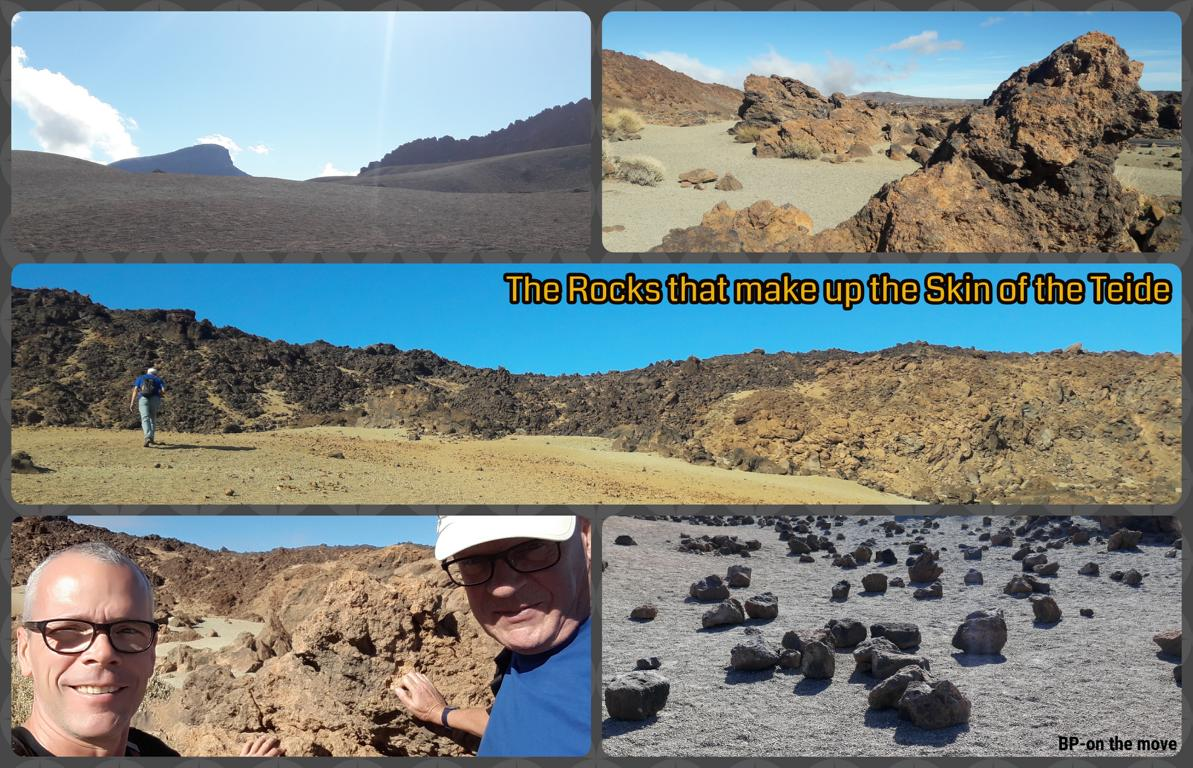 The Rocks that make up the Skin of the Teide