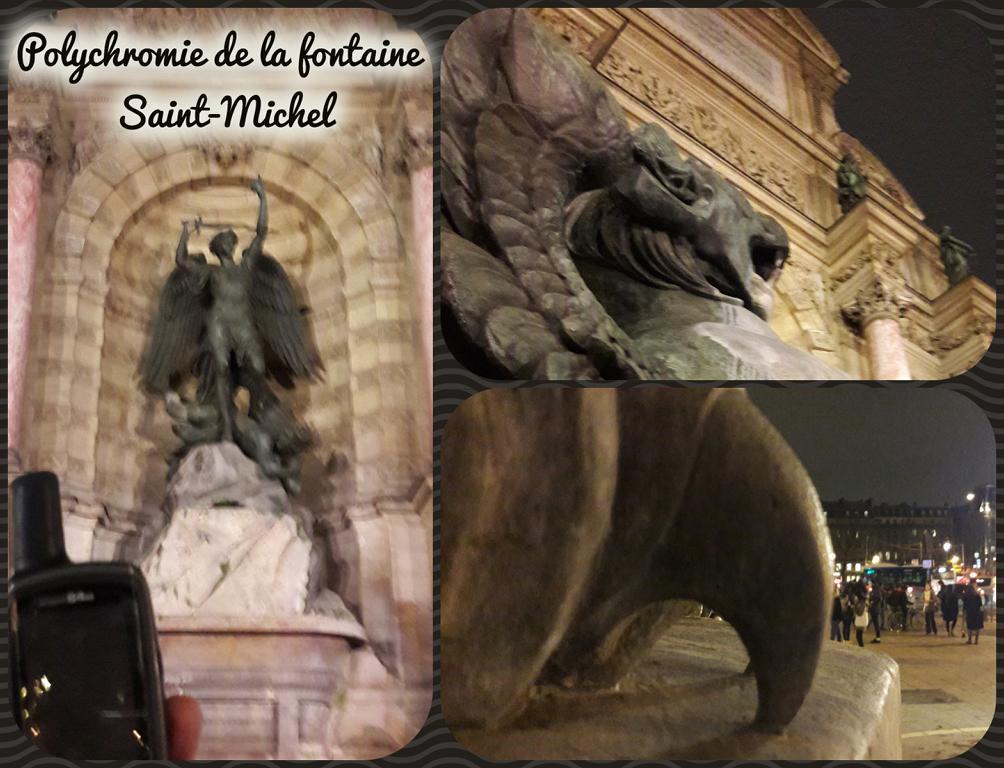 Polychromie de la fontaine Saint-Michel