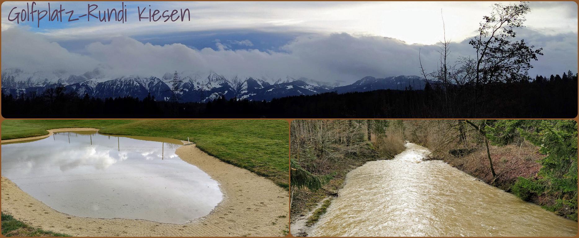 Golfplatz-Rundi-Kiesen