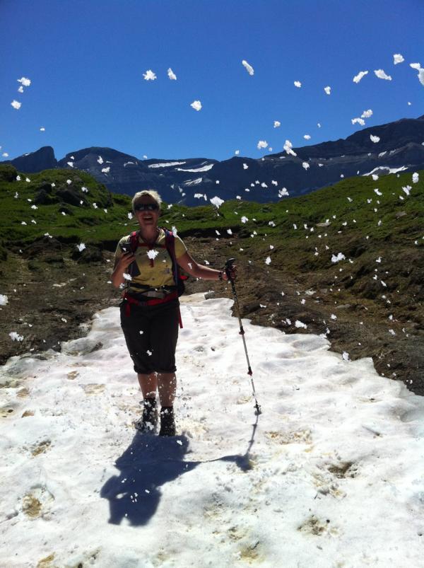 Schneegestöber im Juli