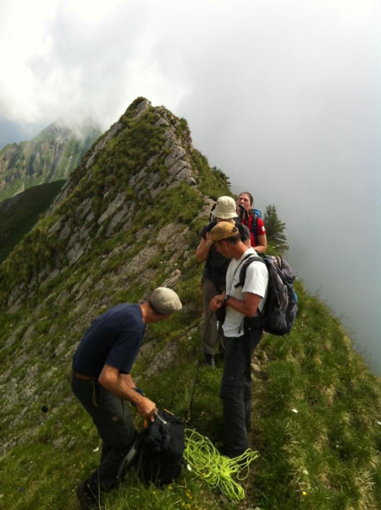 Auf dem Grat ist noch nicht auf dem Gipfel