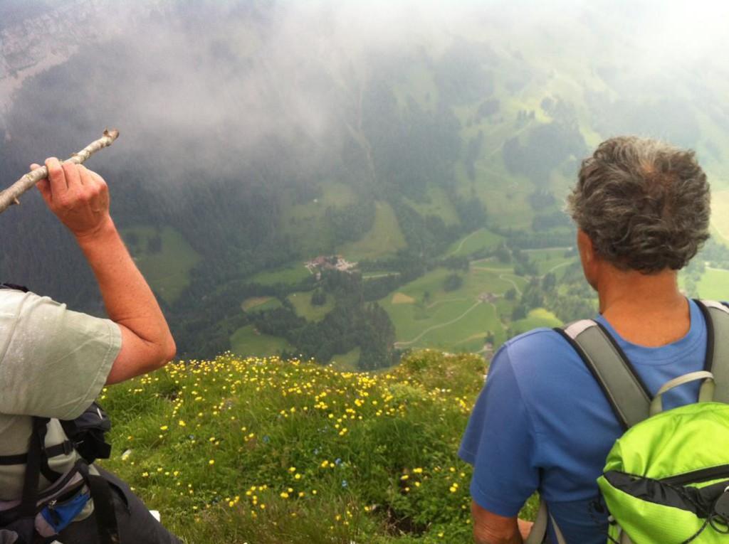 Blick vom Schibegütsch nach Kemmeribodenbad