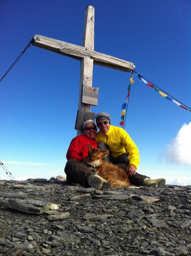 Gruppenfoto auf dem Gipfel